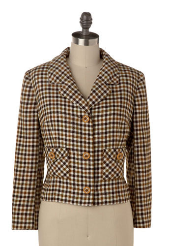 Vintage Check the Copy Blazer