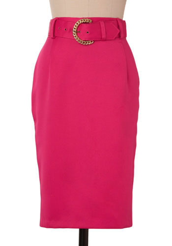 Vintage Shocking Pink Pencil Skirt
