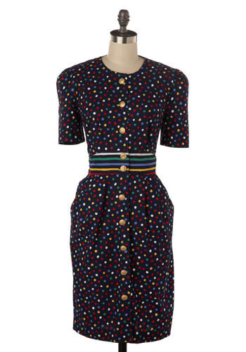 Vintage Polka Party Dress