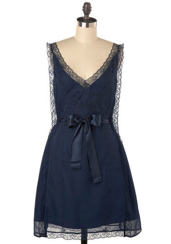 Love Birds Dress in Sapphire - Mid-length