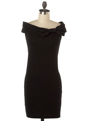 Bow-t Neck Dress - Short