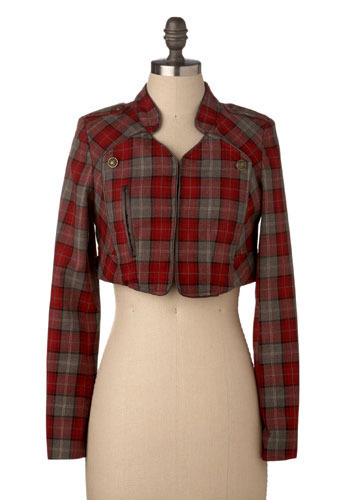 *** Pop Tartan Jacket - Short