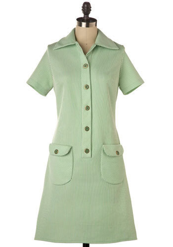 Vintage Mint Stripe Dress