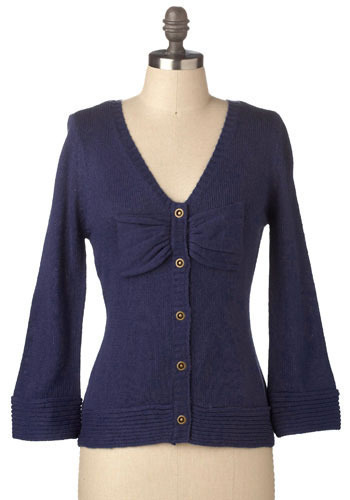 Kind of Blue Cardigan by Tulle Clothing - Mid-length