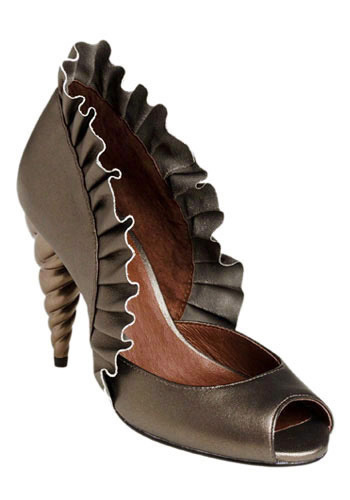 Unicorn Princess Heel in Pewter by Jeffrey Campbell