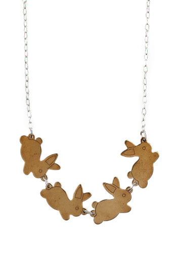 Bunny Hop Necklace - Gold, Silver, Formal, Casual