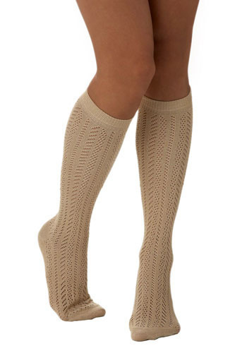 Storybook Ending Socks - Gold, Knitted, Casual, Fall, Winter