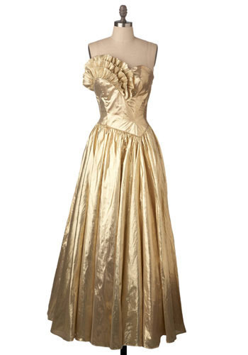 Vintage Golden Great Dress