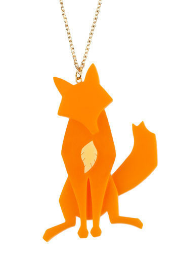 Aesop's Fable Necklace in Fox