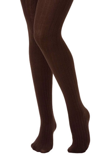 Longitude Tights in Dark Chocolate