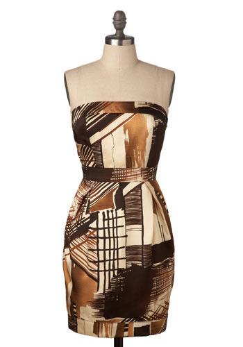 Dexy's Midnight Stunner Dress in Brown - Short