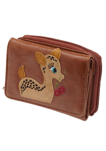 Buck Cherry Wallet - Brown, Multi, Print with Animals, Best Seller, Top Rated