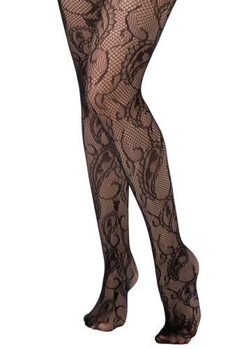 Arabian Tights - Black, Paisley, Prom, Wedding, Party, Casual, Fall, Winter, Sheer
