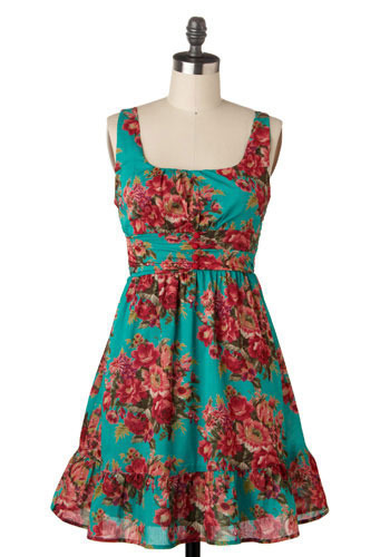 Floral Cornucopia Dress - Mid-length