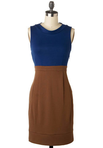 *** Early Morning Blues Dress - Mid-length