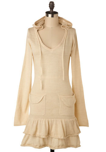 Crème de la Crème Sweater Dress - Mid-length
