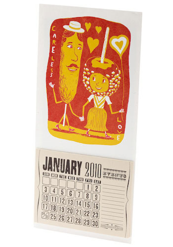 *** Cute on a Stick Mini Calendar