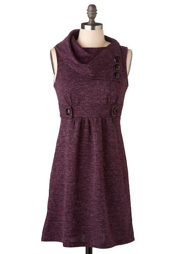 Streetcar Tour Dress in Mulberry - Short