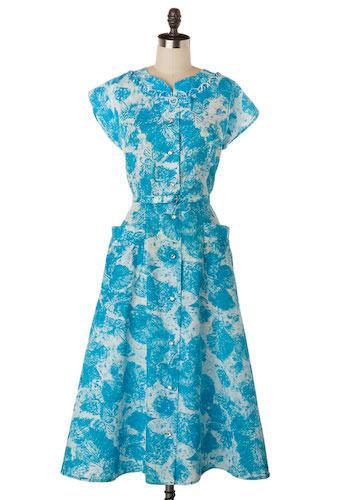 Vintage Frost Forest Dress