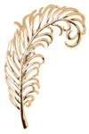 Fanciful Feather Pin