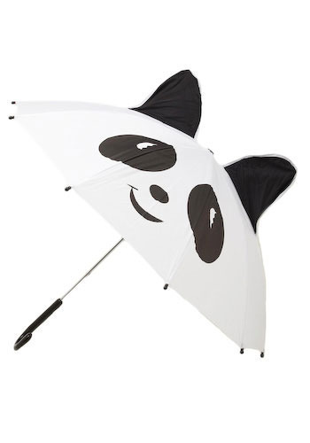 Panda-monium Umbrella - Black, White, Casual, Spring, Travel
