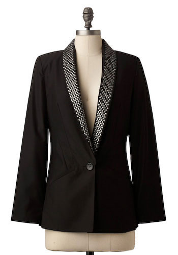 A Stud-y in Chic Blazer - Mid-length