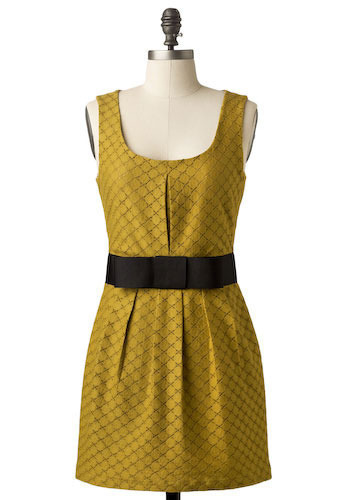 Chartreuse Chanteuse Dress - Short