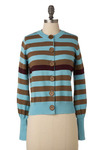 One Stripe to Lead the Rest Cardigan - Short