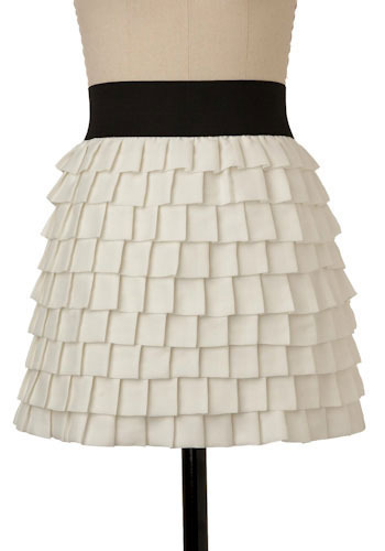 Ivory Symphony Skirt by BB Dakota - Short