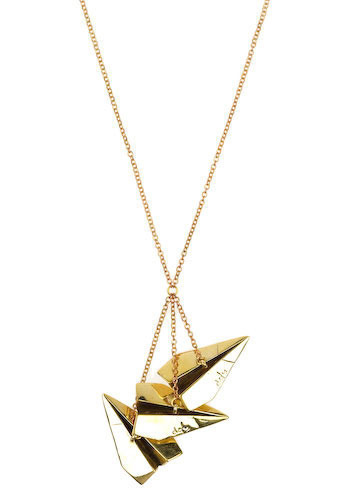 Paper Planes Necklace by Monserat De Lucca