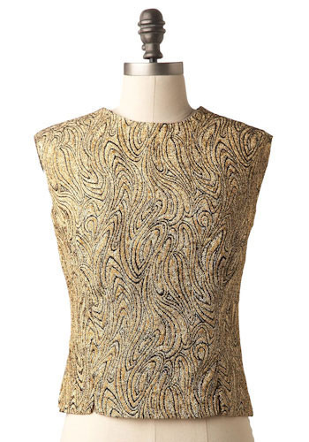 Vintage Golden Lava Blouse