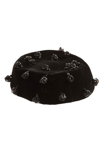 Vintage Velvet Pillbox Hat