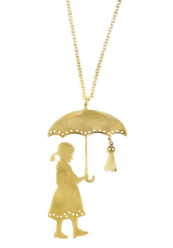 Under My Umbrella Necklace by Monserat De Lucca