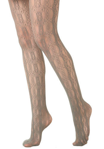 Betsey Johnson Web of Love Tights by Betsey Johnson