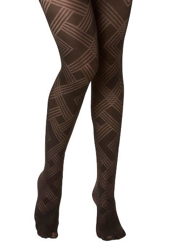 Diamanda Tights - Black, Party, Work, Casual