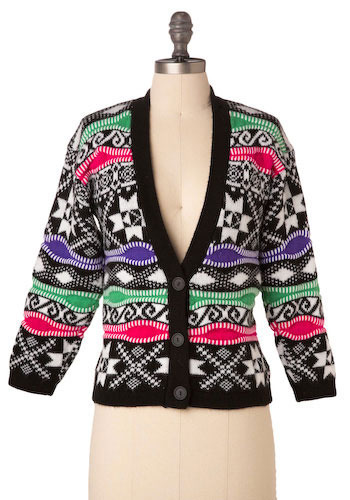 Vintage Living Color Cardigan