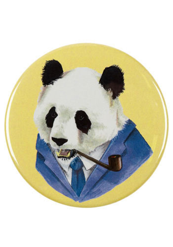 Portrait of a Panda Pocket Mirror