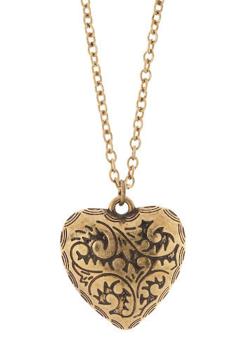 Heart-Shaped Necklace - Gold, Casual