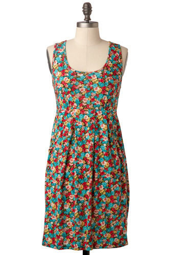 Sample 134 - Multi, Floral, Casual, Sheath / Shift, Sleeveless