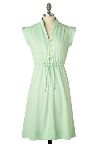 Vintage Soft Mint Dress