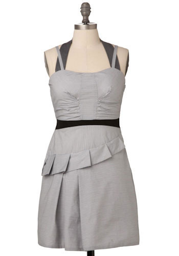 Sample 191 - Grey, Pleats, Casual, Halter, Spaghetti Straps