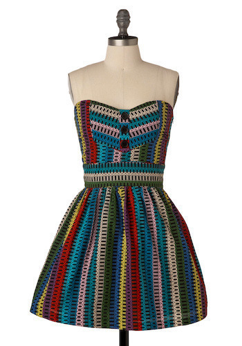 Rainbow Raw Honey Dress by Jack by BB Dakota - Short