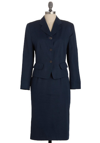 Vintage Conference Call Skirt Suit