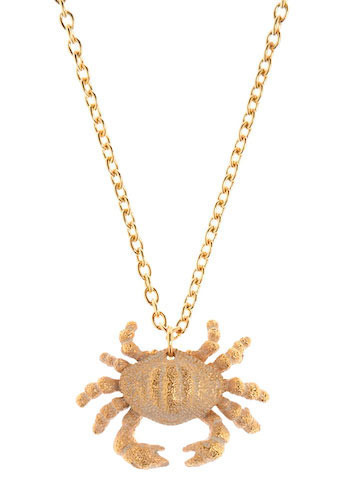 Don't Be Shellfish Necklace in Maryland - Gold, Pink, Casual