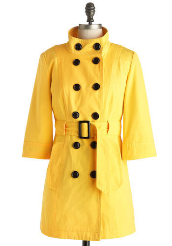 Sunny Disposition Trench by Tulle Clothing - Long