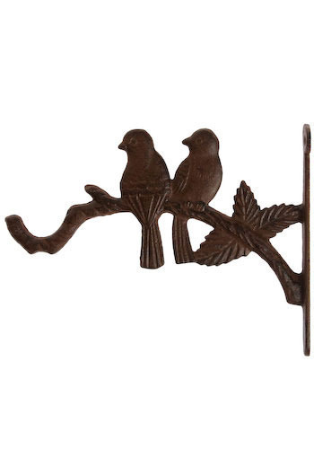Twitterpated Plant Holder - Bronze, Rustic