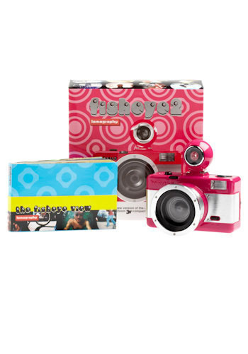 Fisheye 2 Lomography Camera - Pink, White, Vintage Inspired