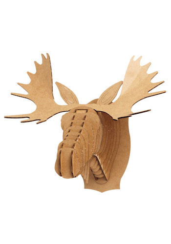 Mini cardboard mounted moose mod retro vintage wall decor - Cardboard moosehead ...