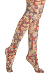 Wildflower Mix Tights by Look From London - Tis the Season Sale