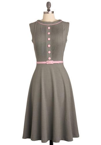 Bettie Page Temporary Secretary Dress in Summer  Mod Retro Vintage